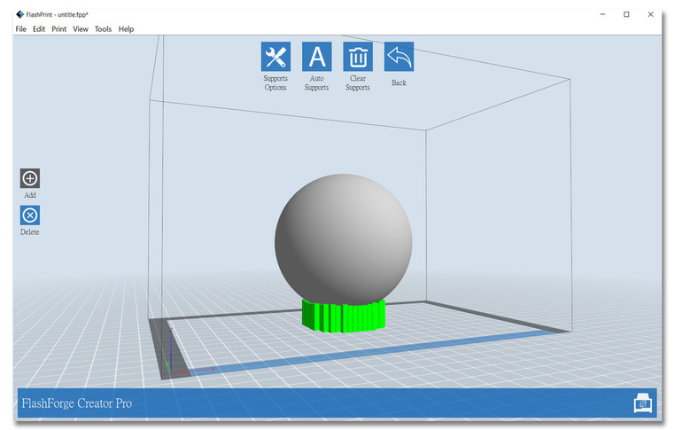 Flashforge Flashprint slicing software