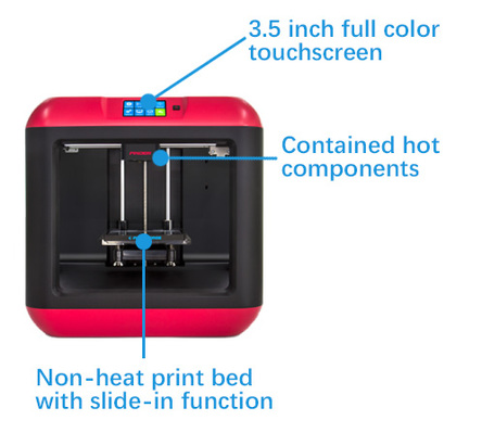 Flashforge Finder FFF 3D printer - Safer to use
