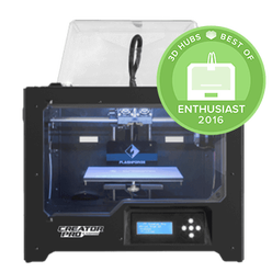 Flashforge Creator Pro dual nozzle open source 3D Printer